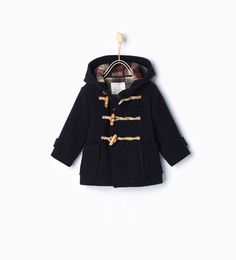 Image 1 of Hooded duffle coat from Zara Little Boy Outfits, Baby Boy Outfits, Baby Boy Fashion, Kids Fashion, Vetement Fashion, Crochet Baby Clothes, Zara Kids, Classic Outfits, Kind Mode
