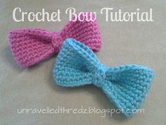 Crochet Bow Tutorial, crochet bow free pattern