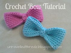 Crochet Bow Tutorial, crochet bow free pattern