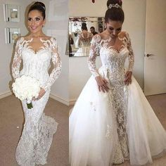 New Custom made two in one wedding dress