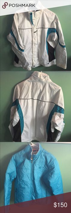 Nike women's winter coat Size xl women. Detachable winter coat with two layers. The hood is also detachable. Can use year round. Maximum comfort and warmth. Includes multiple pockets, cellphone and mp3 pocket. Nike Jackets & Coats Puffers
