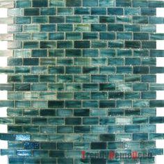 Kitchen Backsplash Mosaic Tiles And Blue Green On Pinterest