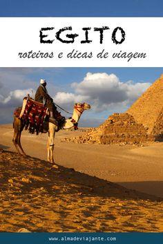 Muitas dicas de viagem e roteiros para viajar em Egito. Quando ir, onde ficar e ideias sobre o que visitar no Egito.