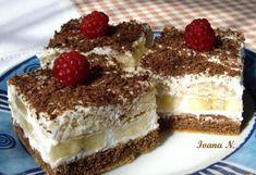 Banánové rezy Recipe by Judit Slovak Recipes, Czech Recipes, Russian Recipes, Ethnic Recipes, Czech Desserts, Sweet Desserts, Sweet Recipes, Baking Recipes, Dessert Recipes