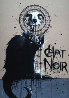 black cat, by SIT. <3