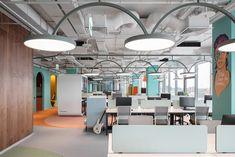 Avito Sales Department - Picture gallery 1 Office Interior Design, Office Interiors, Open Office, Workplace Design, Interior Inspiration, Accent Decor, Interior Architecture, Contemporary, Furniture