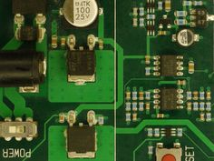 Atmel STK500 power regulators visible