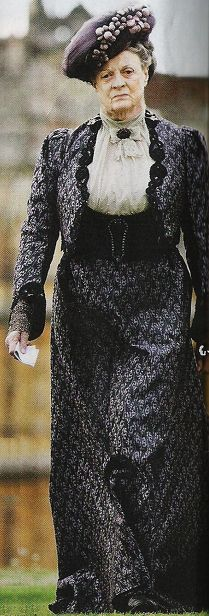Dame Maggie Smith as Violet Crawley, Dowager Countess of Grantham. Downton Abbey