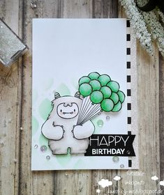 INKognito ~ Cards by Natalie: Yeti-Birthday / Yeti-Geburtstag