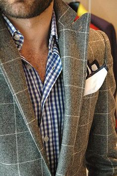 plaid on plaid. What's the brand of this jacket ? Love it !