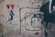 ▲#streetart #stencil #heart #girl #ballon #mural #urban #city #art #stavanger #norge #norway #nuart #2015 #jan