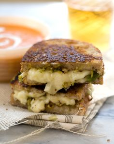 Dijon Brussels Sprout Grilled Cheese // www.acozykitchen.com @A Cozy Kitchen