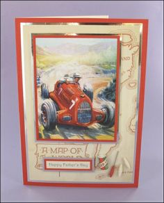 No. 7 Racing Car card with groovy miniatures.