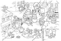 Placemat kerstdorp