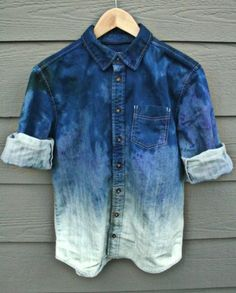 Bleached denim.