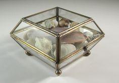 Glass Jewelry Casket full of Seashells // Trinket by UBlinkItsGone, $27.00