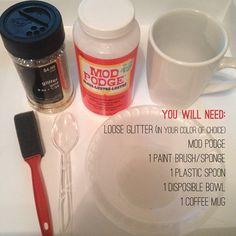 Your Sorority Sister: GLITTER DIPPED COFFEE MUG DIY