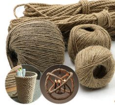 1.59AUD - 20M 1-4Mm Twisted Craft Rope Natural Burlap Jute Twine Hemp Linen Cord String #ebay #Home & Garden