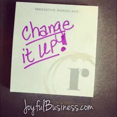 Today's Infusion Words: Change it up! I started my week off today at my co-working place, Roam. I wanted to change it up and start the week of in a new environment for new perspectives. How about you? How can you change it up? Plus, they had complimentary sticky notes for members. Love the generous attitude!  #InvestedCommunity #Innovativeworkplace#creativityinbusiness #creativemarketing #leadership #stickynotes #creativepower