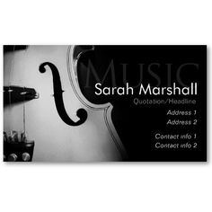 Music Teacher, Music Notes, Musician Business Card Template ...