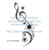 Musical Flower Tattoo by ilsas-izles
