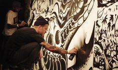 ALFA x JEBA at Cass Art x Liquitex Secret Walls battle