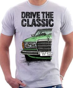 Hey, diesen tollen Etsy-Artikel fand ich bei https://www.etsy.com/de/listing/244454105/clasic-retro-mercedes-w123-t-shirt-weiss