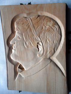 Portrét ženy,lipa 30x40cm