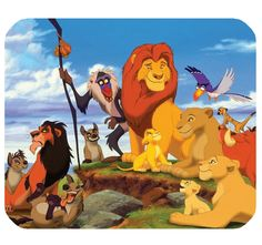 Rectangle Mousepad Non-Slip Gaming Mouse Pad Lion King