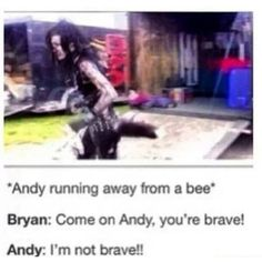 Interview Black Veil Brides Pinterest ❤ liked on Polyvore featuring bvb, andy biersack, black veil brides, text, fillers, phrase, quotes and saying