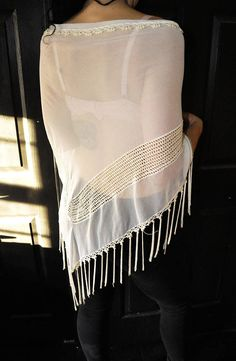 Vintage White Shawl Stevie Nicks Gypsy Shawl measures in length And across . All items sold as is vintage. Magic Secrets, White Shawl, Stevie Nicks, Shawls, 1970s, All Things, Gypsy, Buy And Sell, Handmade