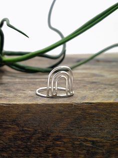 Sterling Silver Triple Arc Ring, by Hunter + Thistle