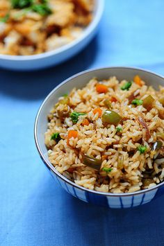 Vegetable Fried Rice Recipe-Indian-Chinese Veg Fried Rice Recipe by Nags The Cook Vegetarian Rice Recipes, Veggie Recipes, Indian Food Recipes, Asian Recipes, Healthy Recipes, Chinese Recipes, Chinese Food, Healthy Food, Eggplant Dishes