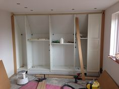 Image result for cut ikea system to fit in slanted ceilings