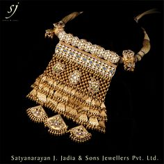 Satyanarayan J Jadia & Sons Jewellers Pvt Ltd Royal Jewelry, India Jewelry, Gold Jewelry, Rajputi Jewellery, Gold Jewellery Design, Jaisalmer, Simple Jewelry, Jewelry Patterns, Necklace Designs