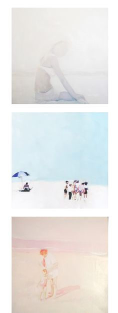 Lisa Golightly - Summer in paintings (it looks like polaroids!)