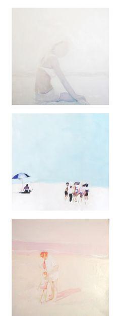 Lisa Golightly - Summer in paintings (it looks like polaroids!)