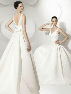 Vestido de novia con espalda descubierta de Franc Sara