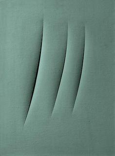 reblololo:    Lucio Fontana, Concetto spaziale: Attese, 1961, oil on canvas, 74 x 54cm, Museum Ludwig 1976, Kölnischer Kunstverein Donation 1963