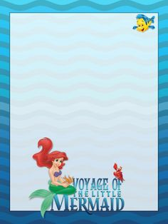 Journal Card - Voyage of The Little Mermaid - Ariel - waves - 3x4 photo pz_DIS_915_VoyageofTheLittleMermaid_3x4.jpg