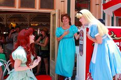 Princess Ariel from The Little Mermaid, Wendy from Peter Pan and Alice from Alice in Wonderland