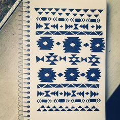#aztec #pattern #doodle #tribal