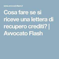 Cosa fare se si riceve una lettera di recupero crediti?   Avvocato Flash