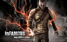 Lucky Black - InFamous backgrounds for widescreen - 1900x1200 px
