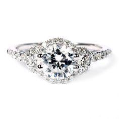 "Verragio ""Insignia"" Collection 18K White Gold Diamond Semi-Mount Engagement Ring. $3249 #verragio #hudson_poole_jewelers"