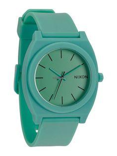 Nixon Time Teller P A-119-1243 Matte Peppermint $103 #watch #watches plastic bracelet