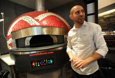 Yorkdale Food Court: From Italy with love. Kelly Farraj shows off Famoso Neopolitan Pizzeria's new bell-shaped, handmade pizza oven. Imported from Italy, it cooks pizzas in 90 seconds at 900 degrees Fahrenheit
