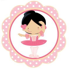 Toppers tema Bailarina para colocar em doces ou cupcakes. Preço unitário. Ballerina Birthday, 1st Birthday Girls, Birthday Parties, Gata Marie, Graphics Fairy, Silhouette Projects, Chicano, Chibi, Mickey Mouse