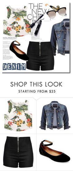"""Denim Trend: Jean Jacket"" by elusiin ❤ liked on Polyvore featuring MANGO, maurices, Love Moschino, Steve Madden, Christian Dior and denimjackets"