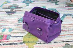 Trousse de Toilette Hurbane - Cuir Violet Ultra